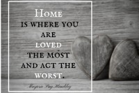 home, love, quote